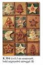 Karácsonyi képeslap - LC/6 méret110x155 mm - oldalra nyitható - belül 4 nyelvű köszöntő