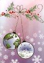 Karácsonyi üdvőzlőlap -115x170 mm - oldalra nyitható - aranyozott, dombornyomású