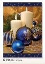 Karácsonyi üdvözlőlap - 110x155 mm - oldalra nyitható - kívülmagyar és angolnyelvű köszöntőszöveggel