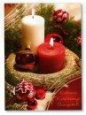 Karácsonyi üdvözlőlap -155x110 mm - oldalra nyitható - kívülmagyar nyelvű köszöntőszöveggel