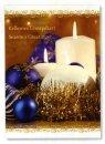 Karácsonyi üdvözlőlap -155x110 mm - oldalra nyitható - kívülmagyar és angol nyelvű köszöntőszöveggel