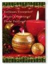 Karácsonyi üdvözlőlap -110x155 mm -oldalra nyitható - kívül3 köszöntőszöveggel