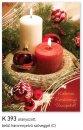 Karácsonyi képeslap - 110x155 mm - oldalra hajtható - aranyozott - kívül magyar nyelvű köszöntő - belül magyar-angol-német szöveg