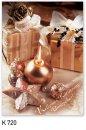 Karácsonyi képeslap - 110x155 mm - oldalra hajtható - kívül magyar nyelvű köszöntő - belül üres