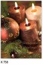 Karácsonyi képeslap - 110x155 mm - oldalra hajtható - kívül magyar és angol nyelvű köszöntő - belül üres