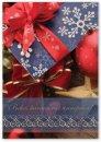 Karácsonyi képeslap - 110x155 mm - oldalra hajtható - aranyozott - kívül magyar nyelvű köszöntő - belül üres