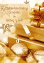 Karácsonyi képeslap - 110x155 mm - fényes arany díszítéssel - belül üres